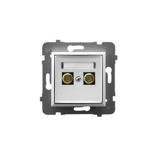 Ospel Aria gniazdo głośnikowe pojedyncze białe ggn-1u/m/00 (5907577482688)