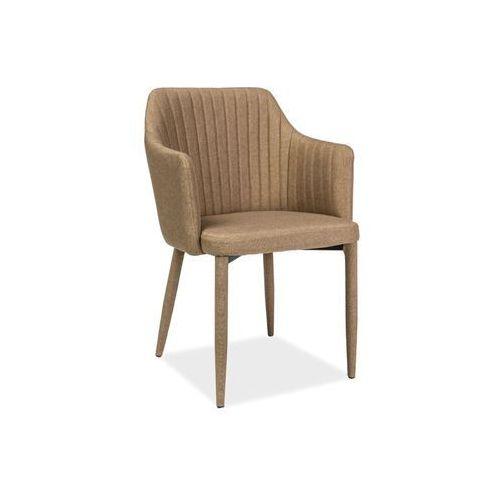 Krzesło - SIGNAL WELTON - beż - materiał, Signal