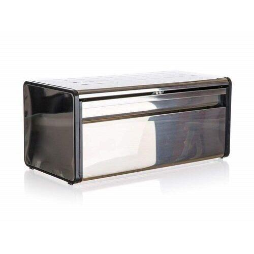 chlebak nierdzewny quadra 39,5 x 20,5 x 18 cm, czarna listwa marki Banquet