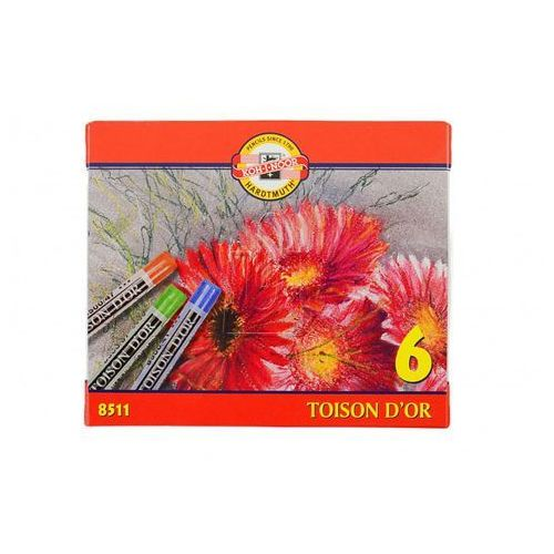 Kredki Pastele Toison D\'or 6 kolorów