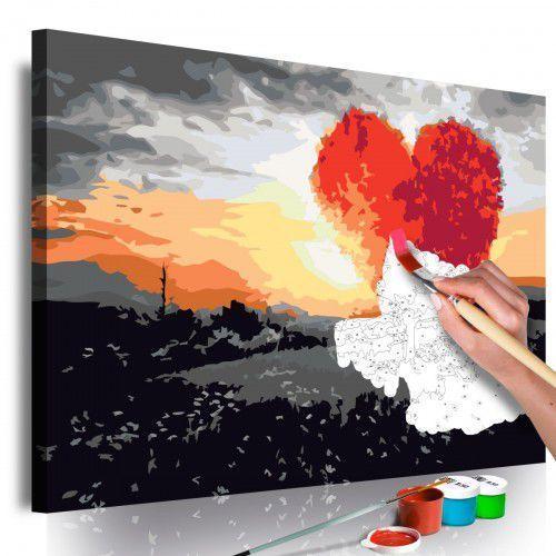 Artgeist Obraz do samodzielnego malowania - drzewo w kształcie serca (wschód słońca)
