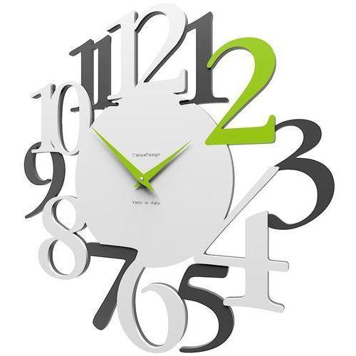 Zegar ścienny russell biały / szary / zielony (10-020-76) marki Calleadesign