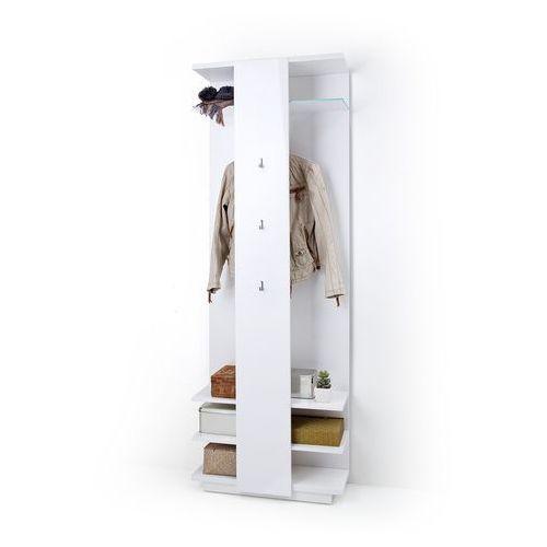 Panel garderobiany do przedpokoju biały wysoki połysk ADELA 60/204/29, kolor biały