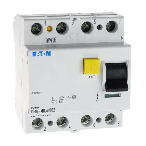 Eaton Wyłącznik różnicowoprądowy cfi6 4p 40a 30ma typ ac 235784 electric (9007912212614)