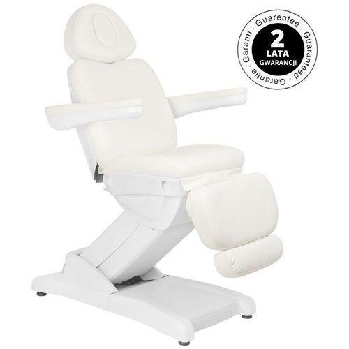Fotel kosmetyczny elektr. azzurro 871a 2 siln. biały marki Activ
