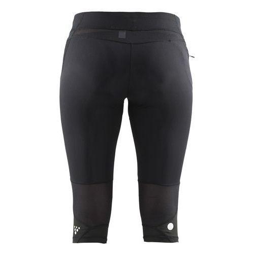 CRAFT Trail Capri - damskie spodnie 3/4 (czarny-różowy), w 4 rozmiarach