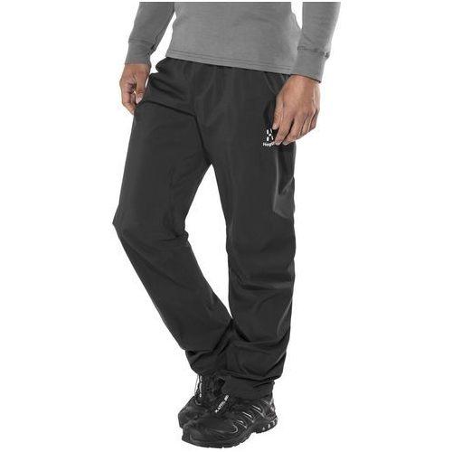 Haglöfs L.I.M Proof Spodnie długie Mężczyźni czarny S 2018 Spodnie przeciwdeszczowe (7318841105918)