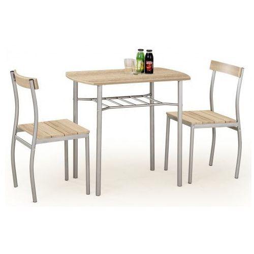 Stół z krzesłami Twiner - dąb sonoma, V-CH-LANCE-ZESTAW-SONOMA