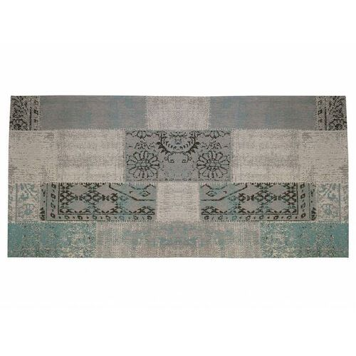 Vente-unique Dywan do przedpokoju w stylu vintage turin - 100% poliestru - 80x200 cm - szaroniebieski