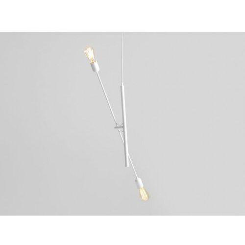 Industrialna lampa sufitowa twigo 2 - kolor biały marki Customform