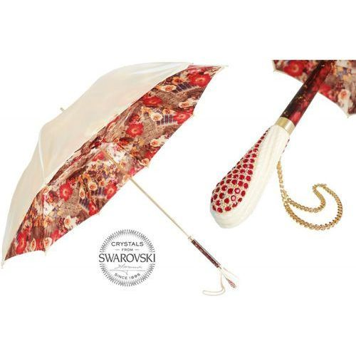 Parasol Pasotti Vintage with Swarovski Handle, podwójny materiał, 189 25-5 S8 MM