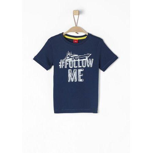 s.Oliver T-shirt chłopięcy 128/134 ciemnoniebieski, kolor niebieski