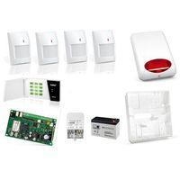 Satel Zestaw alarmowy  micra bezprzewodowy powiadomienie sms na 4 czujniki mpd-300