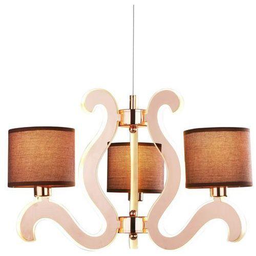Lampa wisząca zwis żyrandol Candellux Ambrosia 3x40W E14 + 18,4W LED miedź 33-33888 (5906714833888)
