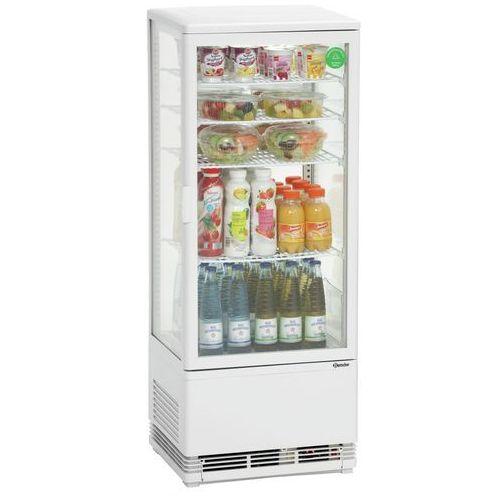 Bartscher Witryna chłodnicza mini z oświetleniem - w zestawie 4 wkładane półki - 98 l