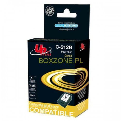 UPrint kompatybilny ink z PG512BK, black, 18ml, C-512B, dla Canon MP240, 260, 480 (3584770880903)