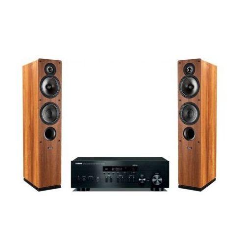 Zestaw stereo YAMAHA R-N402D BL + INDIANA LINE Tesi 561 Orzech DARMOWY TRANSPORT (2907228609917)