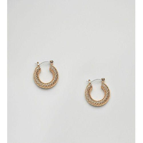 DesignB London gold vintage style chunky hoop earrings - Gold