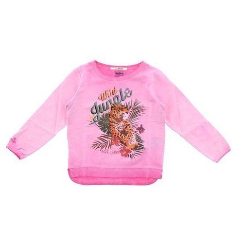 Pepe jeans bluza dziecięca różowy 4 lata