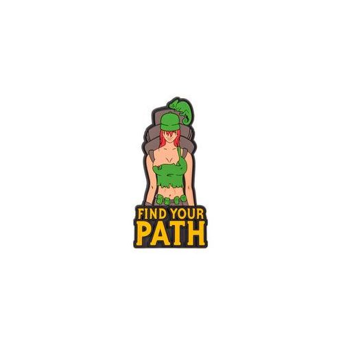 Helikon-tex Emblemat helikon find your path - pvc - olive green (od-fyp-rb-02)