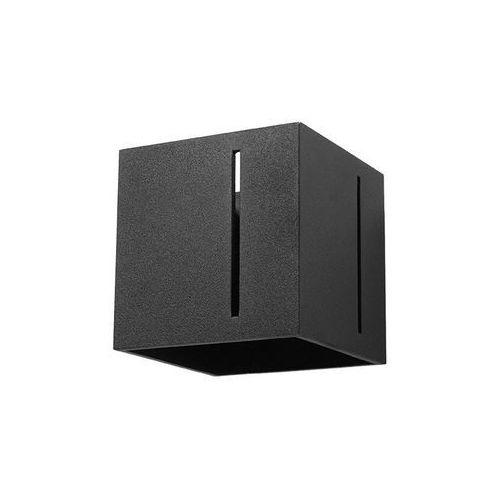 kinkiet LAMPA ścienna SOL SL.397 metalowa OPRAWA kostka kwadratowa cube czarna (5902622428963)