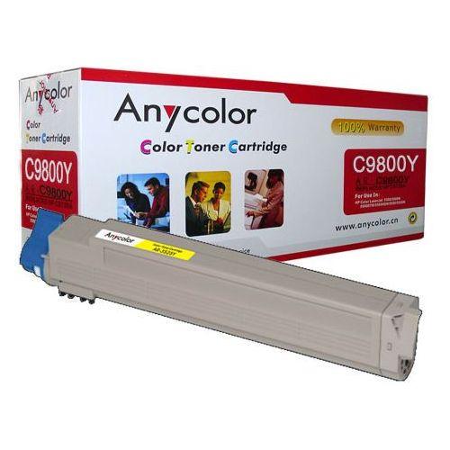 Anycolor Toner oki c9600 c9650 c9800 c9850 zamiennik żółty 15k