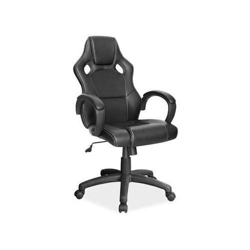 Fotel gamingowy q-103 - fotel dla gracza - czarny marki Signal