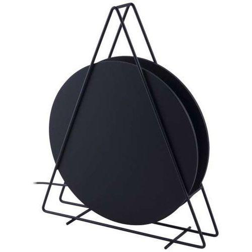 Geometryczna LAMPKA biurkowa WHEEL 9036 Nowodvorski metalowa LAMPA stołowa designerski trójkąt drewniane koło czarne (5903139903691)