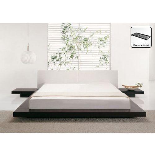 OKAZJA - Łóżko ciemnobrązowe - 180x200 cm - łóżko drewniane - styl japoński - ZEN