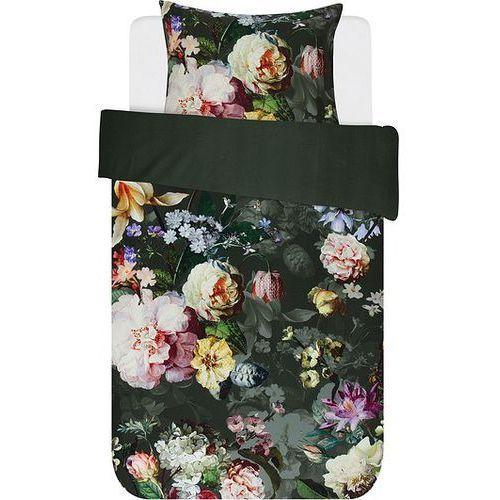 Pościel Fleur ciemnozielona 135 x 200 cm z poszewką na poduszkę 80 x 80 cm, 401055-100DE-029