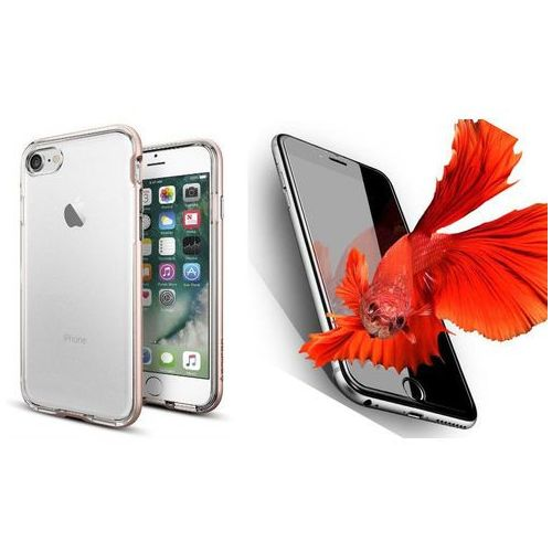 Zestaw | Spigen SGP Neo Hybrid Crystal Rose Gold | Obudowa + Szkło ochronne Perfect Glass dla modelu Apple iPhone 7