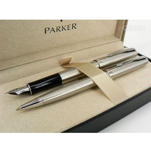 Zestaw Parker Sonnet stalowy CT pióro i długopis
