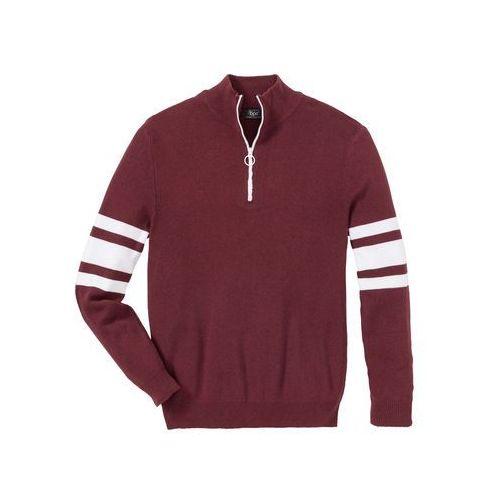 Sweter slim fit ciemnoniebieski marki Bonprix