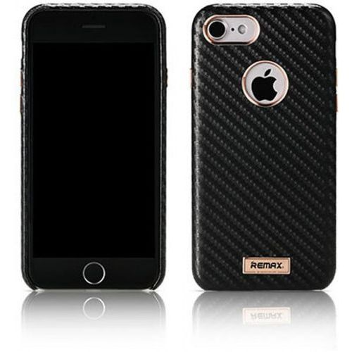 Etui Remax Carbon Series Case for iPhone 7 Black, kolor czarny