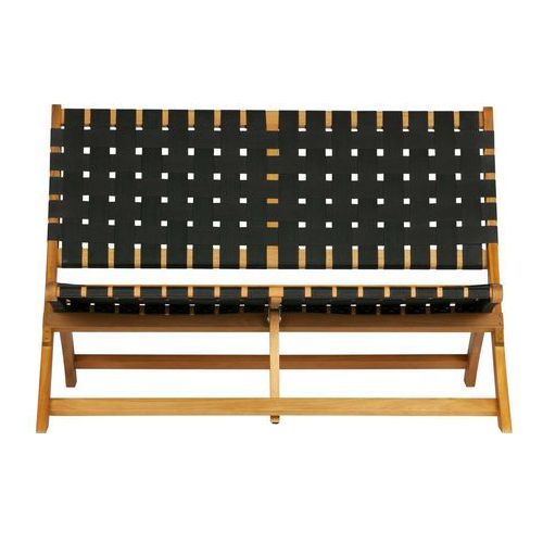 Woood ławka lois czarna z drewna naturalnego 373796-n (8714713086788)