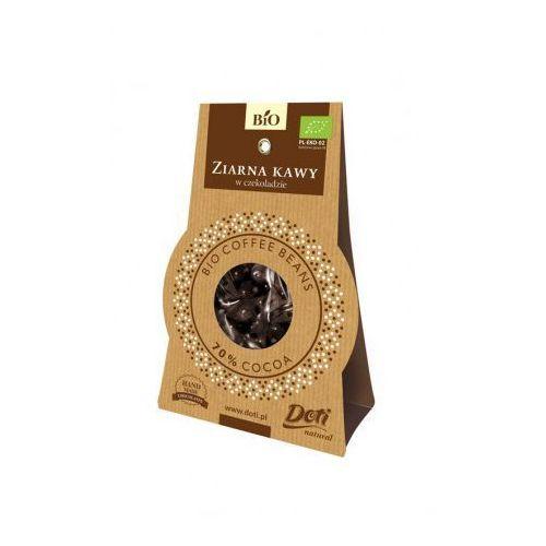 Ziarna kawy w czekoladzie deserowej bio 50 g - doti marki Doti (produkty w deserowej czekoladzie)