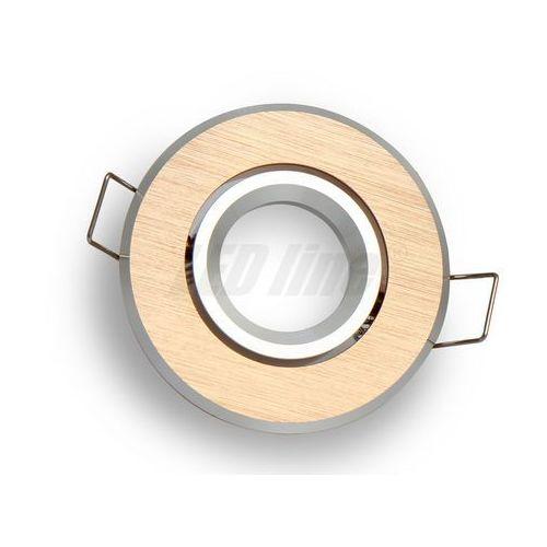 Oprawa halogenowa sufitowa okrągła ruchoma, aluminium, MR11 - złota szczotkowana