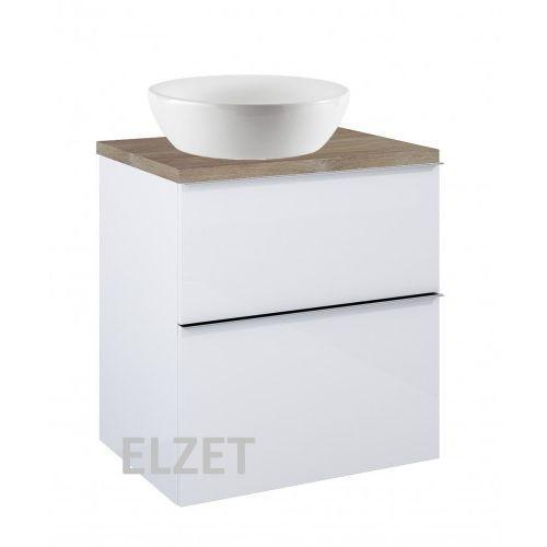 szafka look 2s white pod umywalkę nablatową + blat 60 dąb classic 167077+166897 marki Elita