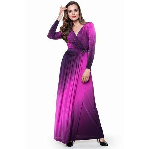 Sukienka z efektem cieniowanego koloru Bona - L'ame de Femme, kolor różowy