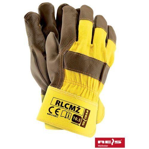 Rękawice robocze wzmacniane skórą licową rlcmż rozmiar 10 marki R.e.i.s.