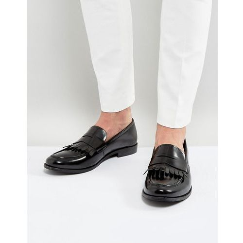 penny loafers hi shine black leather - black marki Dune