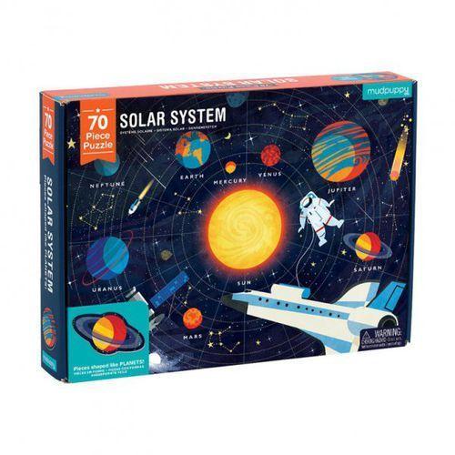puzzle układ słoneczny z elementami w kształcie planet 5+ marki Mudpuppy
