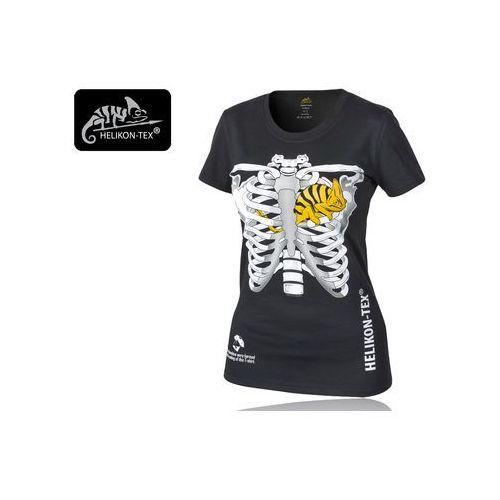 Koszulka Helikon T-Shirt DAMSKI (kameleon w klatce piersiowej) - Bawełna - Czarny