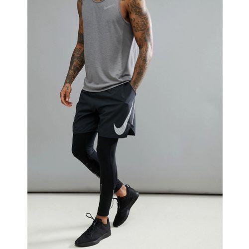 Nike running flex distance flash reflective 7 inch shorts in black 899498-010 - black