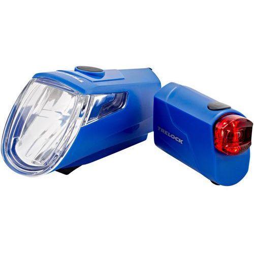Trelock ls 360 i-go eco+ls 720 reego zestaw oświetlenia niebieski 2018 oświetlenie rowerowe - zestawy