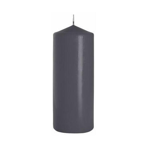 Świeca pieńkowa ciemnoszara wys. 20 cm