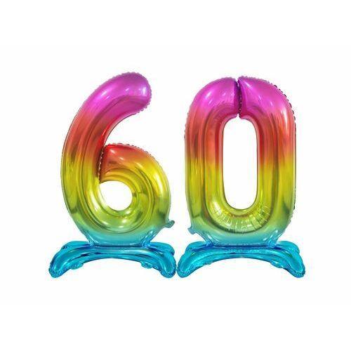 Zestaw balonów foliowych 60 tęczowa - 74 cm marki Godan
