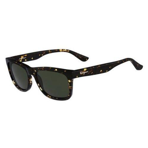 Okulary Słoneczne Salvatore Ferragamo SF 775S 281, kolor żółty