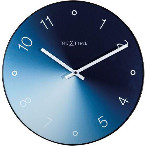 Nextime Zegar ścienny gradient niebieski 40 cm (8194 bl) (8717713024514)