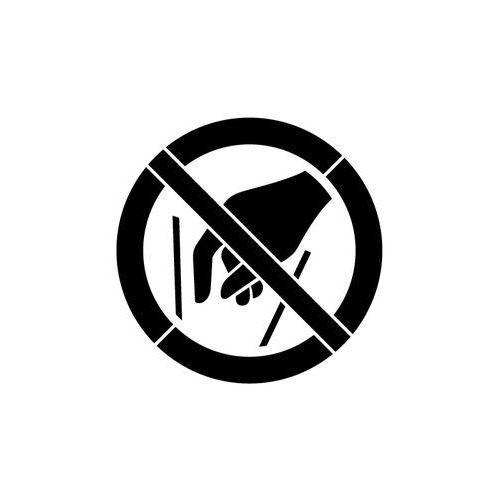 Szabloneria Szablon z tworzywa do malowania znak zakaz wkładania rąk do środka gp015 - 15x15 cm
